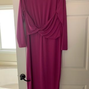 Beautiful, plum dress.